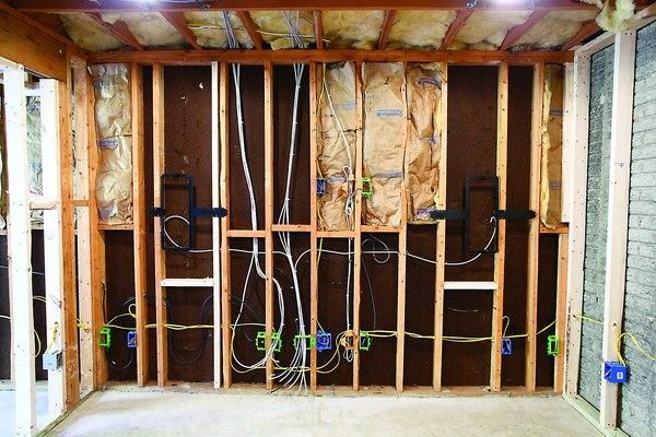 Residential House Wiring Diagram : In wall wiring guide for home a v dream man cave