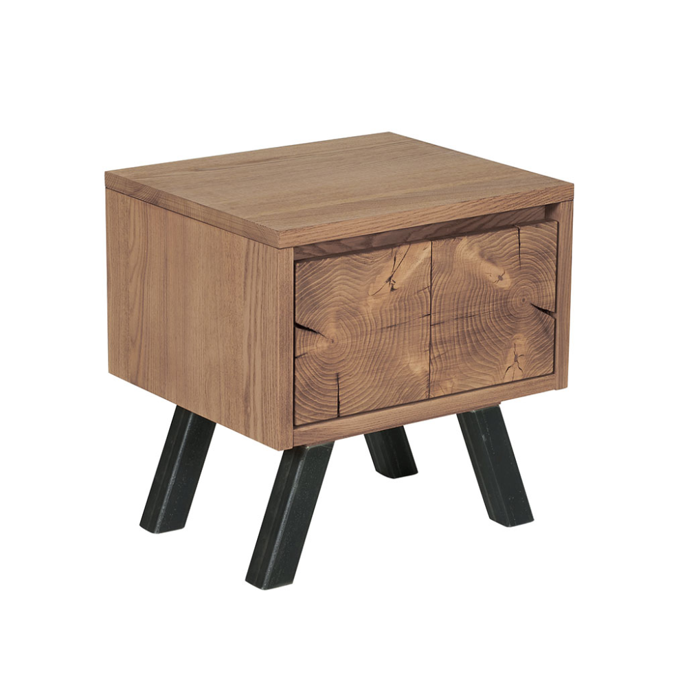 Table De Chevet Oregon En Frene Massif Brosse D Influence Scandinave Chevet Bois Debout Table De Chevet