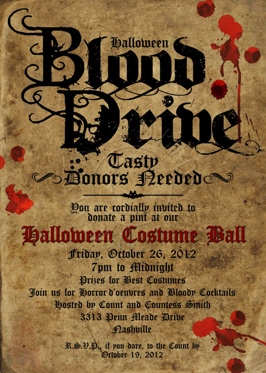 Halloween Invitation. wording Halloween invitations