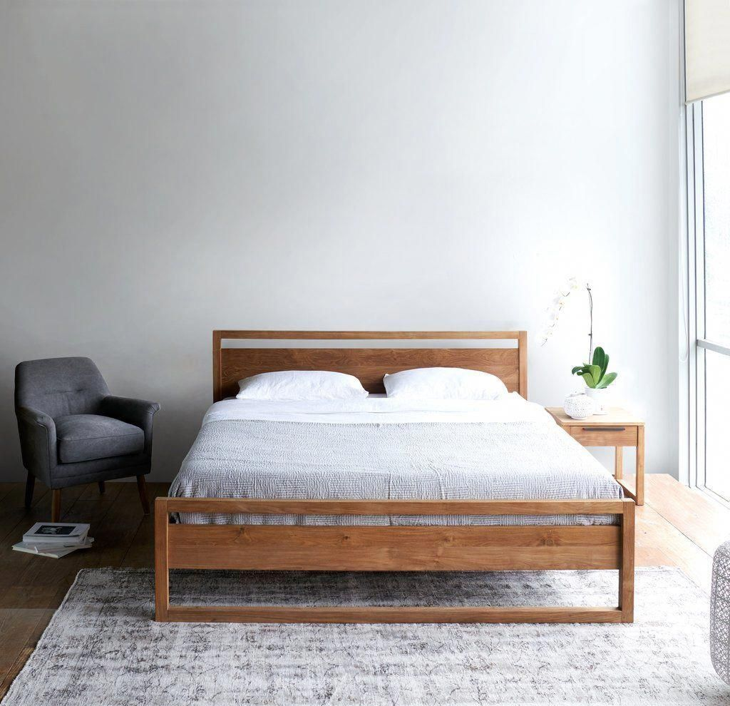 Light Frame Teak Bed Frame Australian King Size King Bed Frame