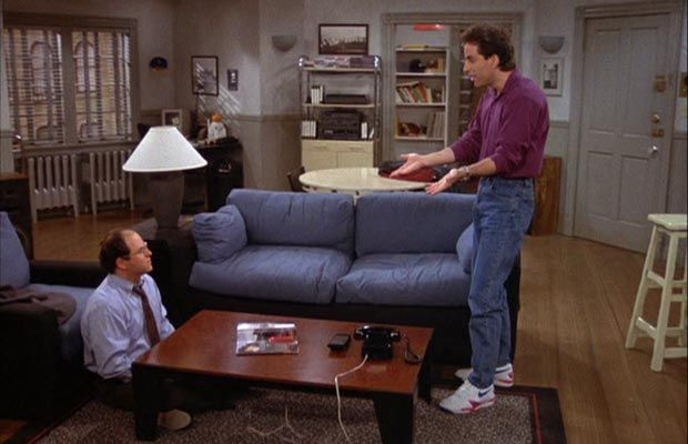 the best attitude 9ee2d d928c Blindingly white sneakers + high waisted jeans à la Seinfeld... potentially  hilarious comeback  No, probably not.
