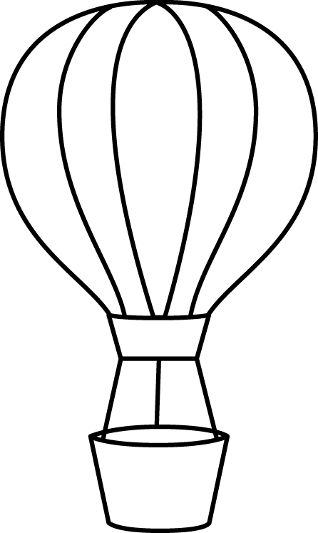 Black And White Hot Air Balloon Balonlar