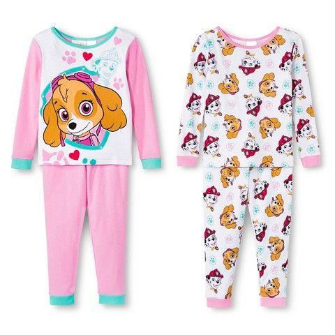 Toddler Girls' Paw Patrol 4-Piece Pajama Set - Pink | PAW PATROL ...