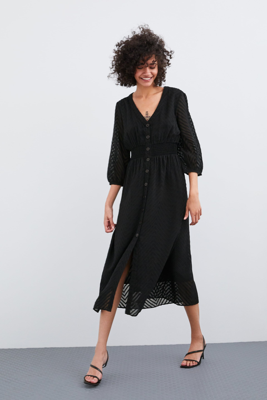 Image 1 De Robe En Plumetis De Zara Swiss Dot Dress Mesh Dress Dresses [ 2880 x 1920 Pixel ]