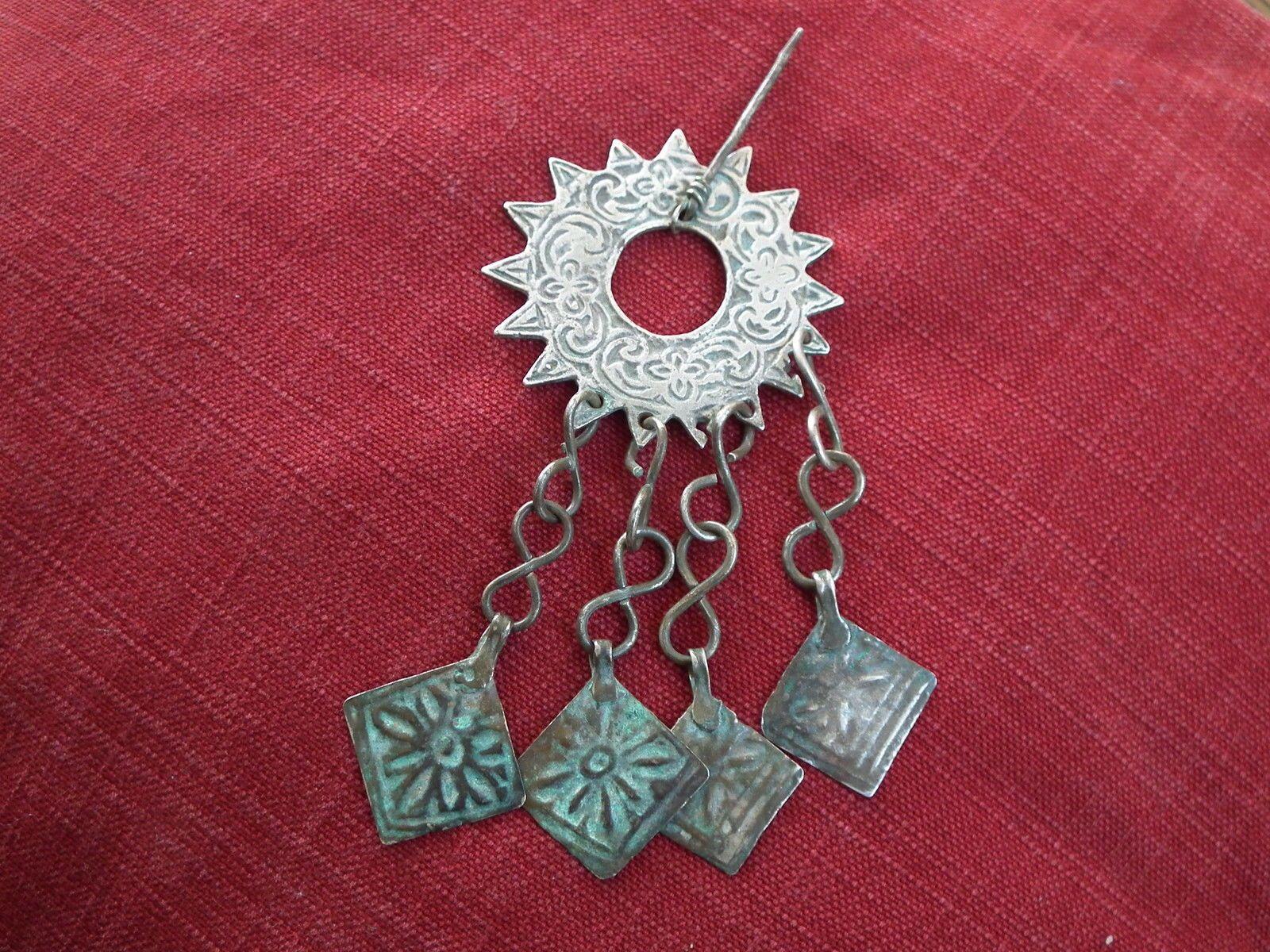 9a9a97a1a66f bijoux anciens Maroc . rare et ancienne fibule poinçonnée en argent