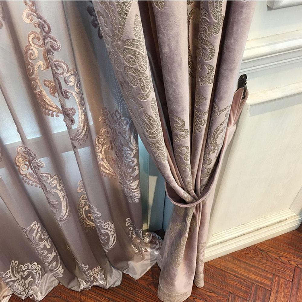 High End Velvet Gilded Curtains For Living Dining Room Bedroom