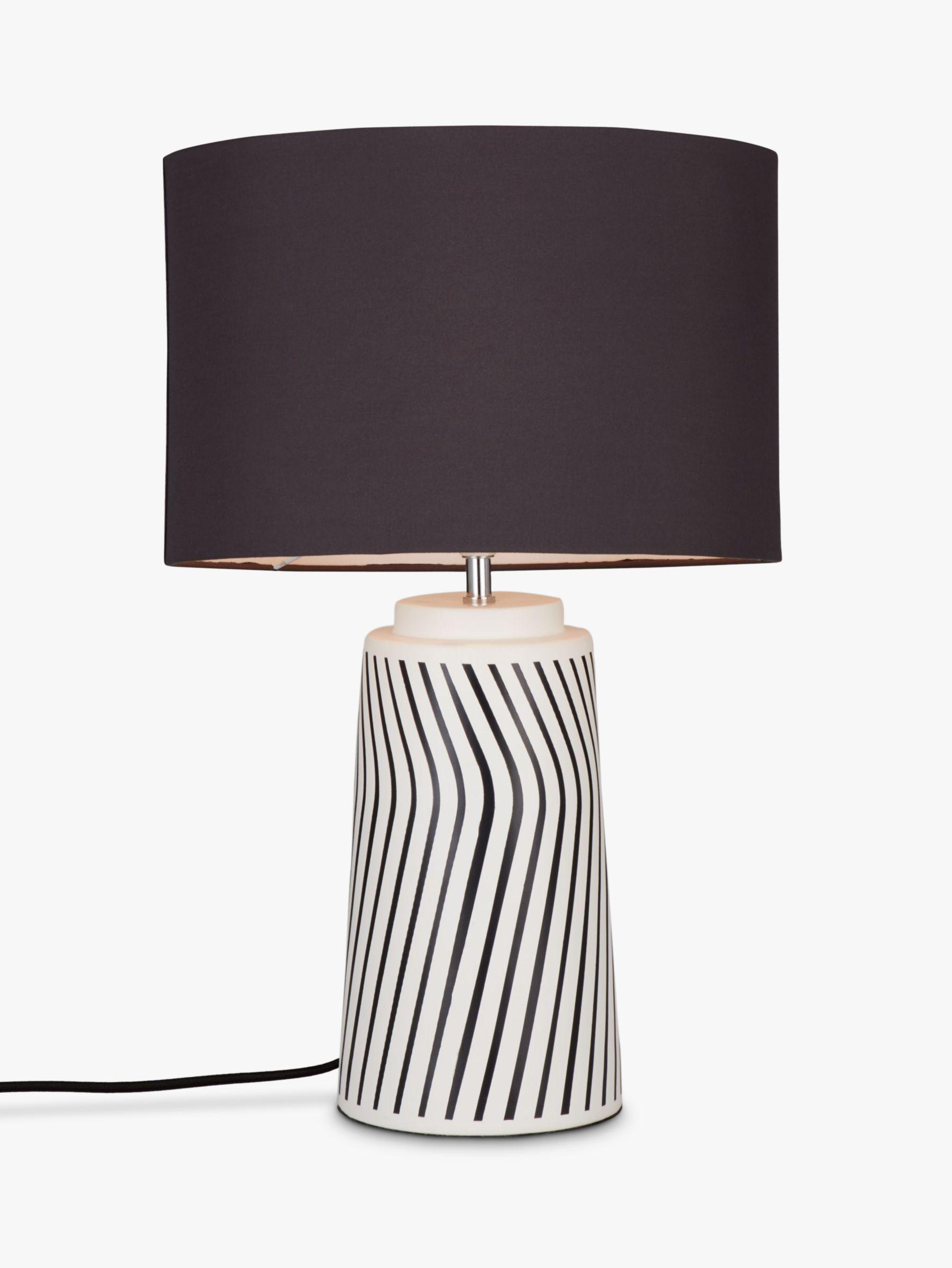 John Lewis Partners Ziggy Ceramic Table Lamp Black White With