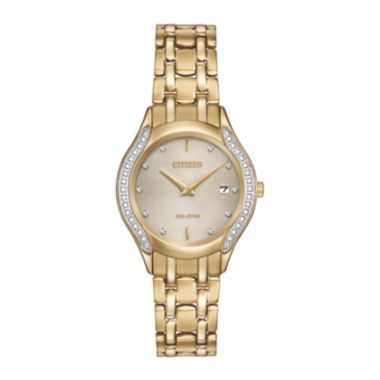 Citizen® Eco-Drive® Womens Diamond-Accent Bracelet Watch GA1062-51P  found at @JCPenney