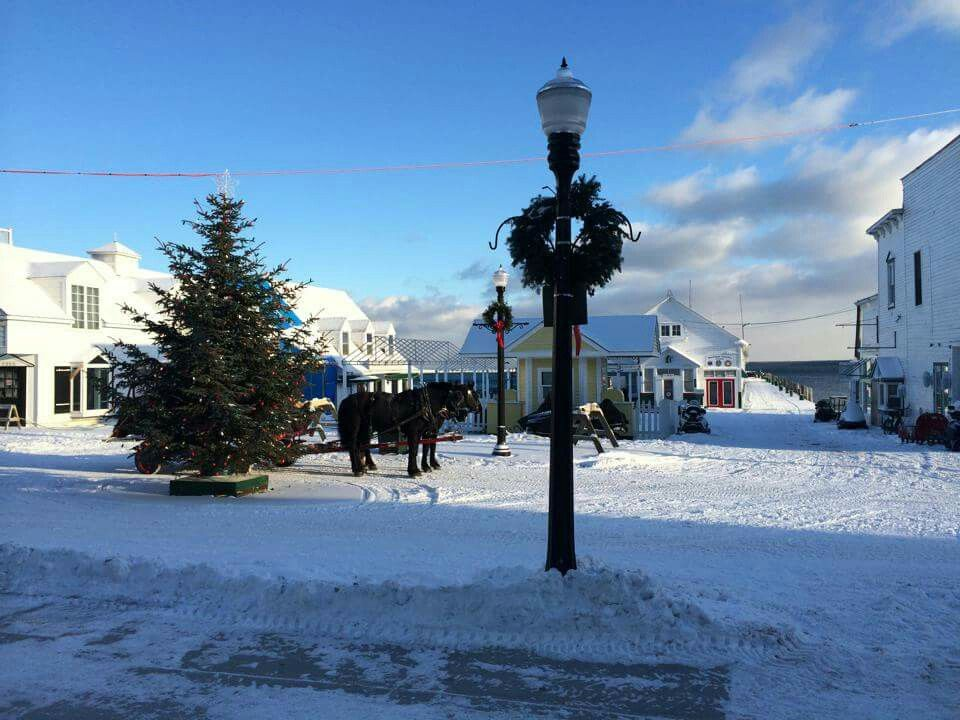 Sunny Cold Day On Mackinac Island Mackinac Island Mackinac Mackinaw City