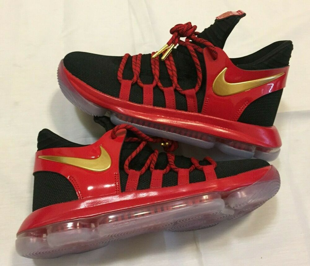 brand new c8cfd 7cdcc Sponsored)eBay - NIKE ZOOM KD 10 LE BLACK/RED/GOLD GS ...