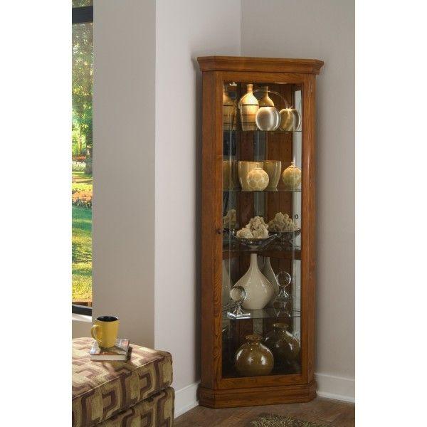 Golden Oak Ii Corner Curio Corner Curio Buy Bedroom Furniture