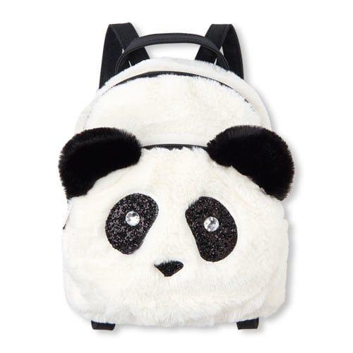 183faffd54 Girls Faux Fur Panda Mini Backpack