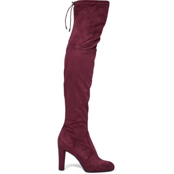 17053b252c5 Sam Edelman Kent stretch-suede over-the-knee boots ( 165) ❤ liked ...