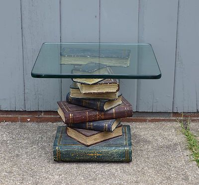 Maitland Smith Book Stack End Table With Glass Top Hollywood Regency  Furniture