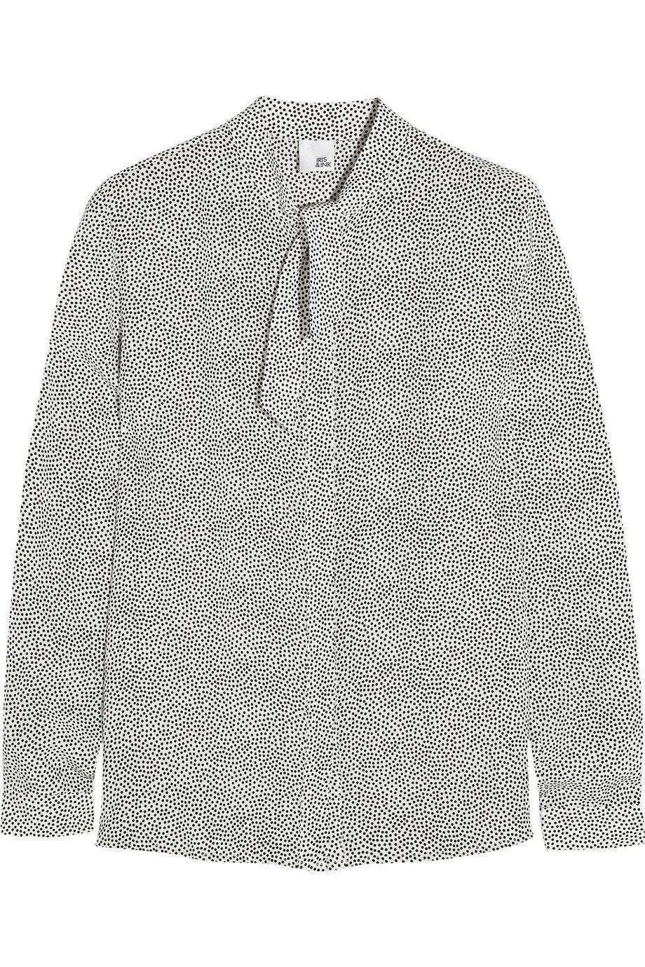 Iris and InkElla printed silk crepe de chine blousefront