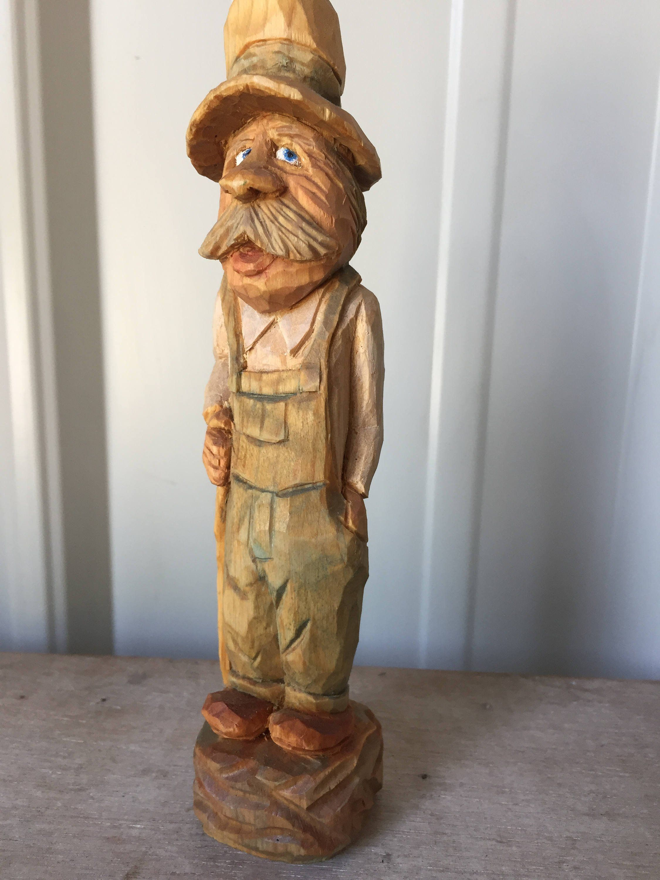 Farmer Hand Carved /& Painted