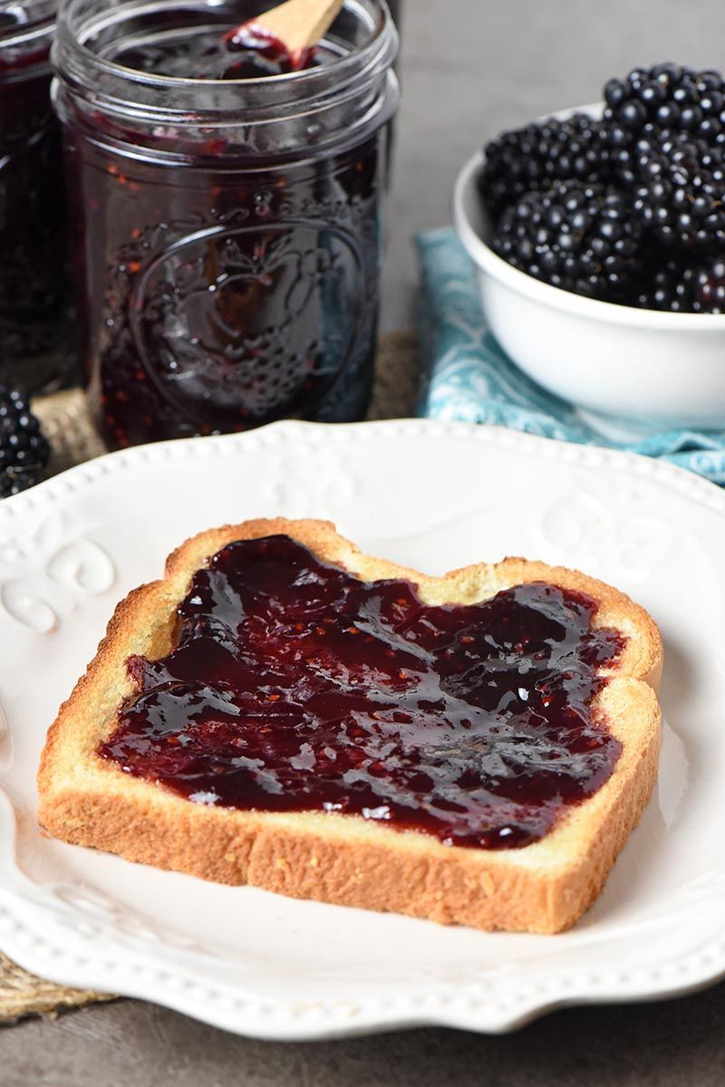 Blackberry jam is one of our favorite fruit preserves it