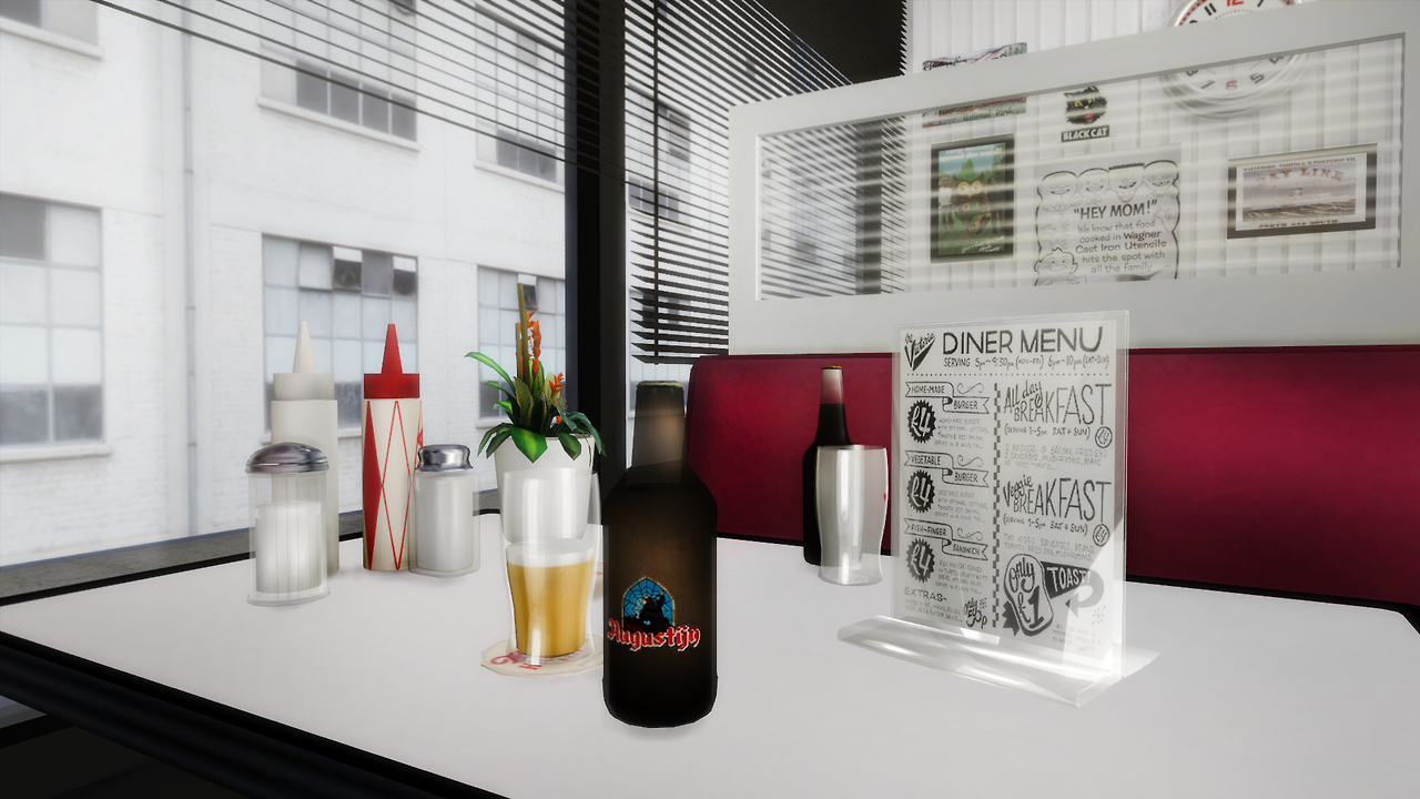American Diner Part 2 by daer0n and slox (new meshes) | Sims