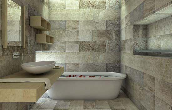Risultati immagini per bagni pietra e mosaico progetti da