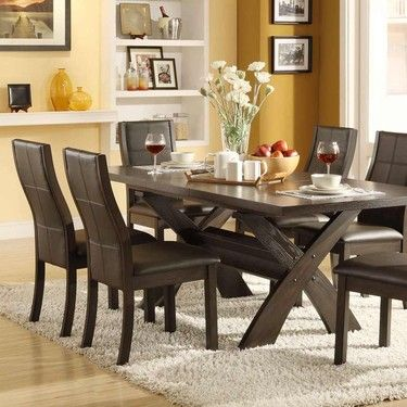 Saw This At Costco Fell In Love Bayside Furnishings 7 Piece Dining Set Dining Room Table Set Unique Dining Room Table Bayside Furnishings