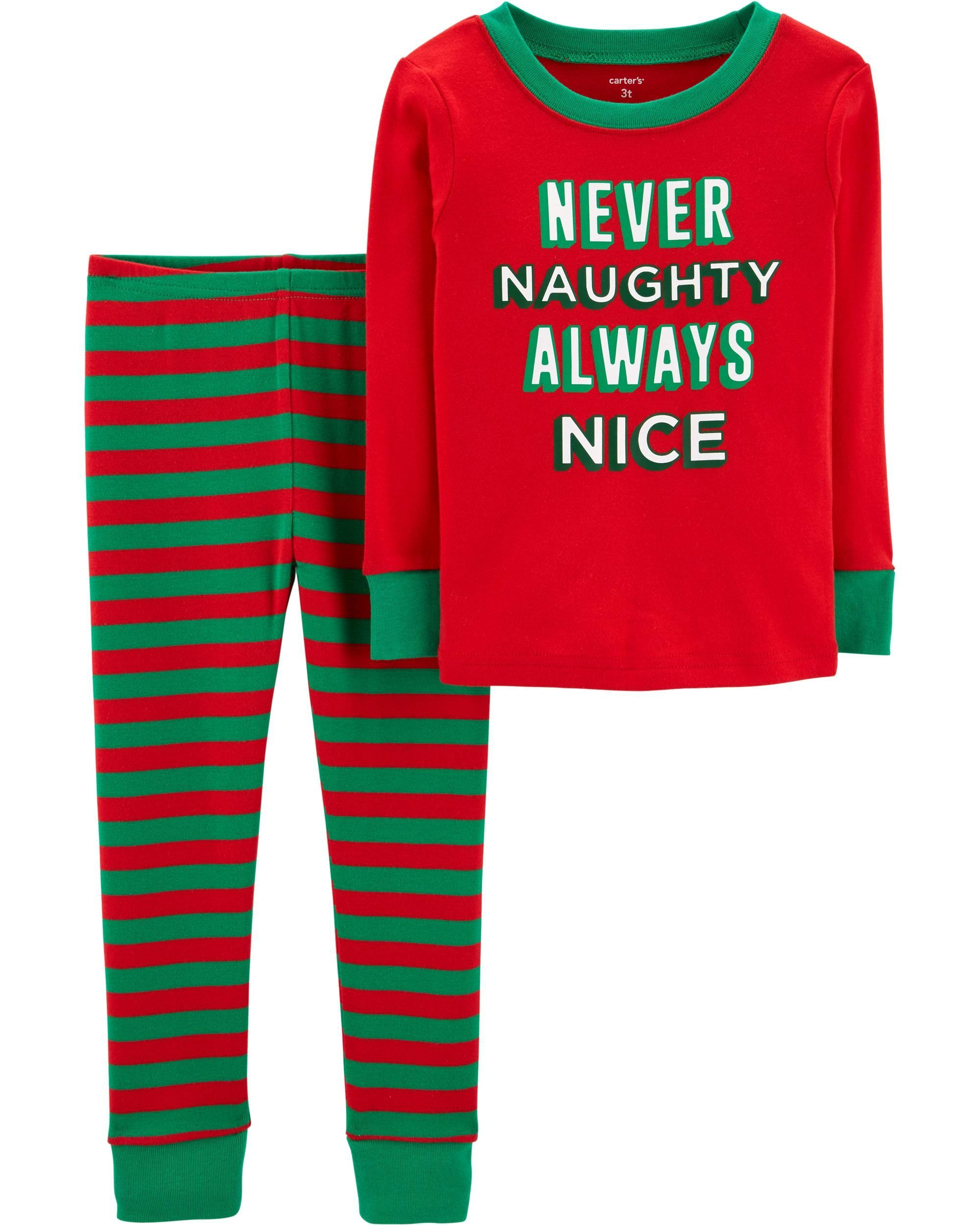 83a48ff0f2 Toddler Boy 2-Piece Toddler Christmas Snug Fit Cotton PJs