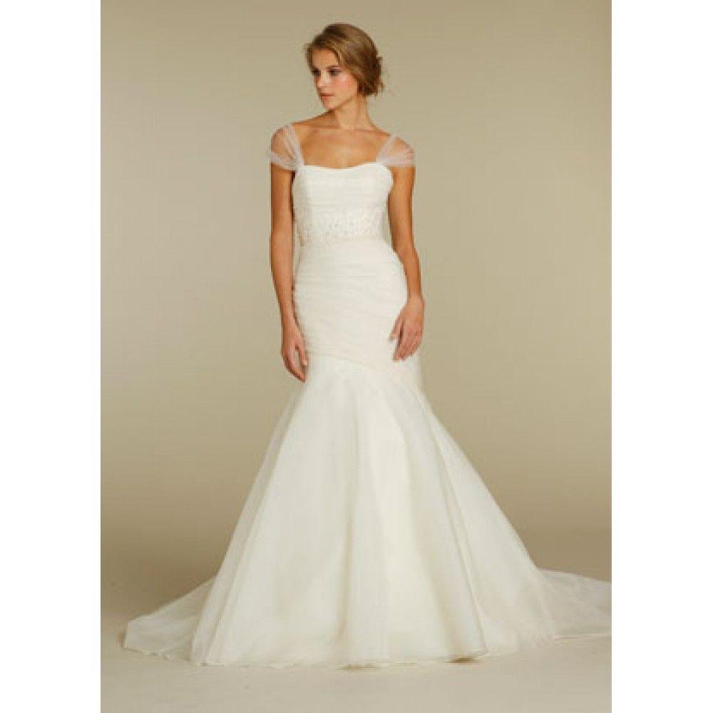 simple organza wedding dresses