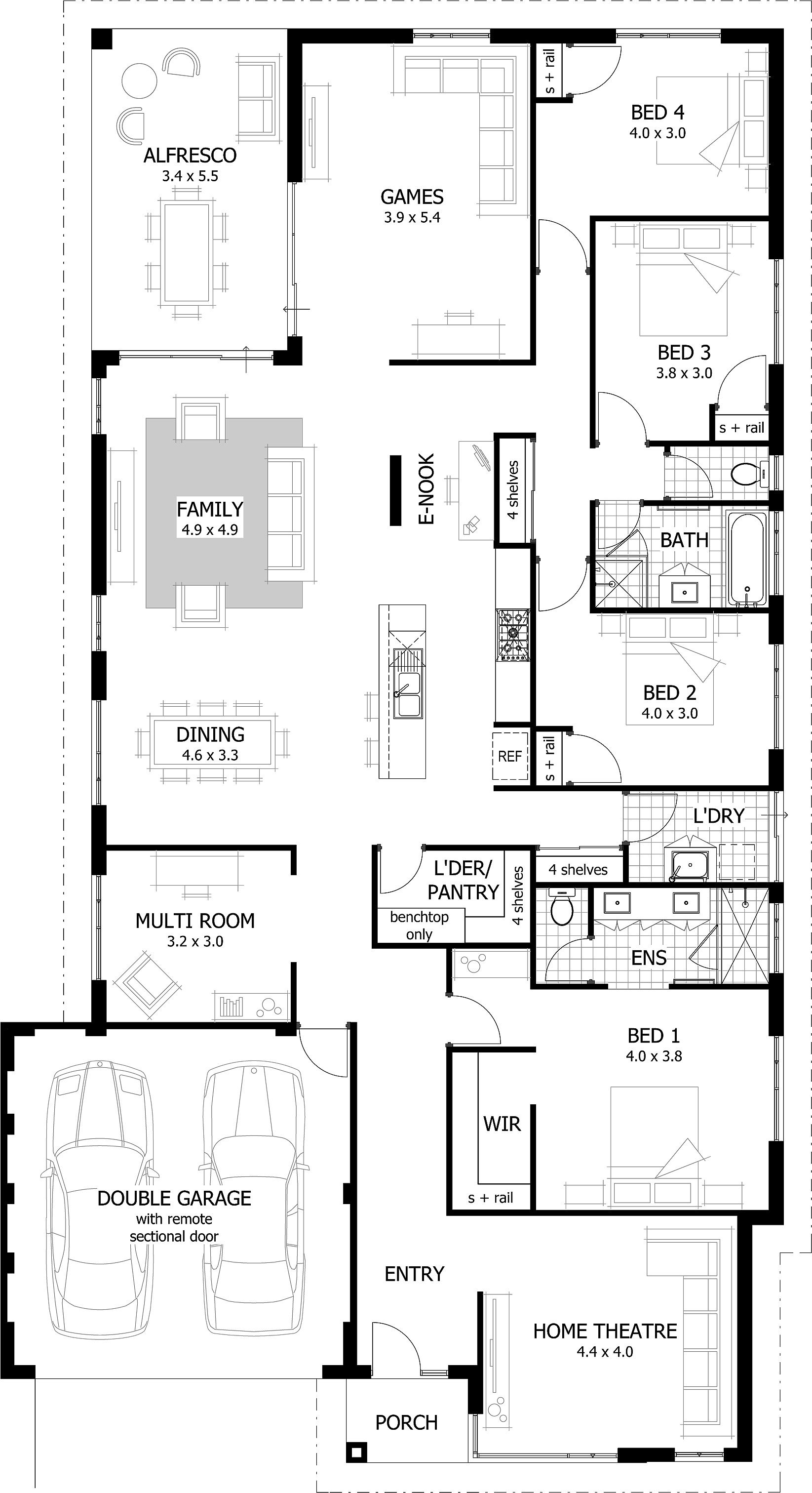Home Designs Narrow House Plans Bedroom House Plans 4 Bedroom House Plans