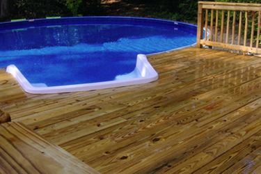 pictures of the medallion st croix freedom series above ground swimming pool - Above Ground Pool Steps Wood