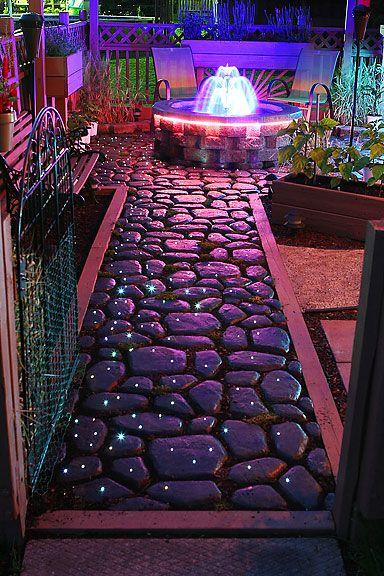 DIY Fiber Optic Lit Walkway. Lots Of Time, Quickcrete And Paint. Fiber  Optic LightingPatio StoneStone ...