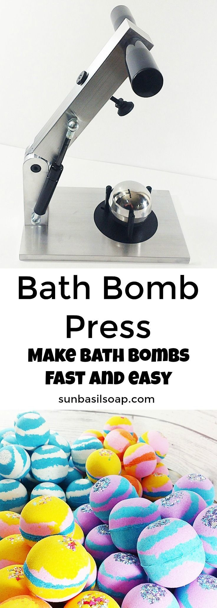 Make bath bombs easier and faster with a bath bomb press