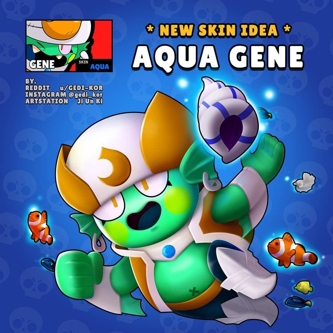 Aqua Gene Brawl Blow Stars Fan Art