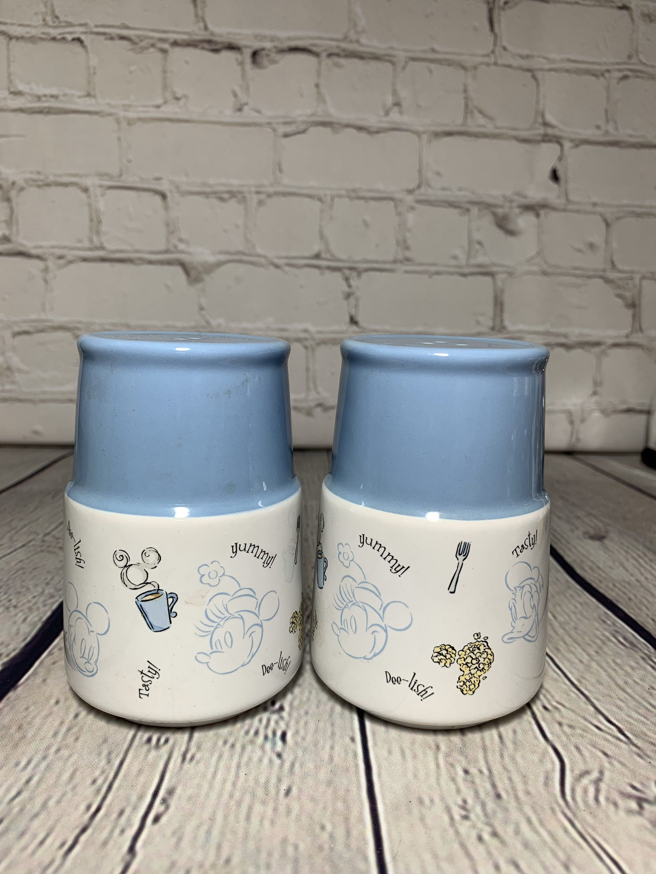 Country farmhouse style blue and white ceramic and glazed