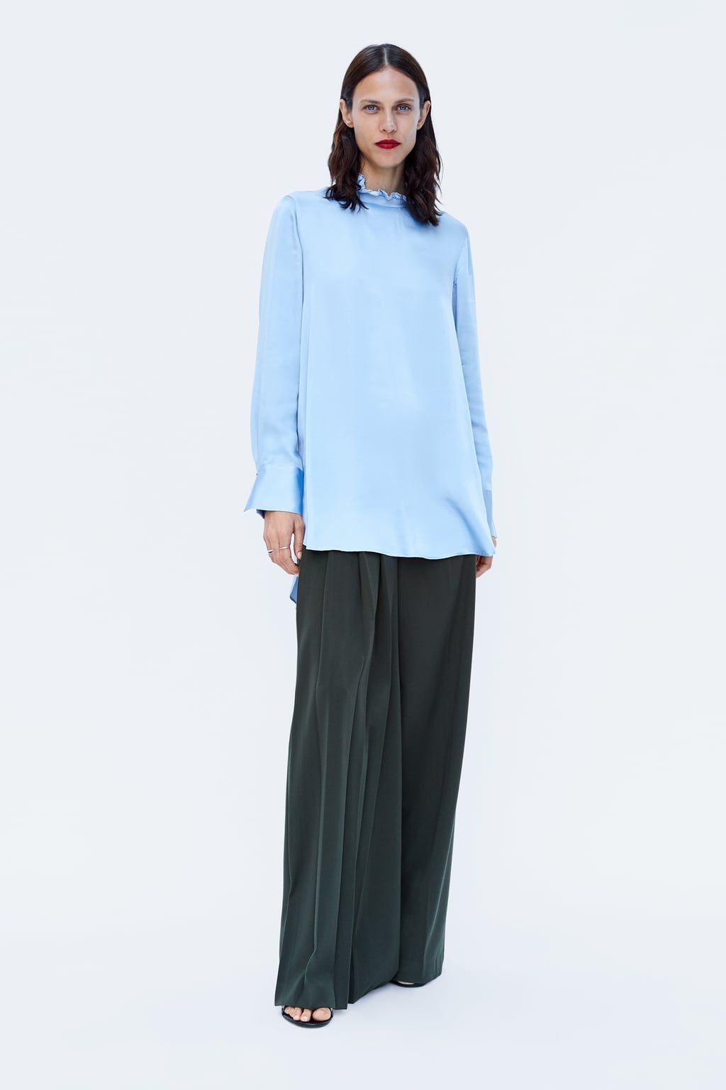 aaeacecaa Image 1 of ASYMMETRIC SATEEN BLOUSE from Zara | Here and now ...