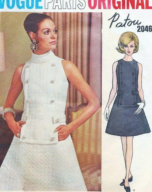 1960s Mod Patou Cocktail Evening Party Dress Vogue Paris Original ...