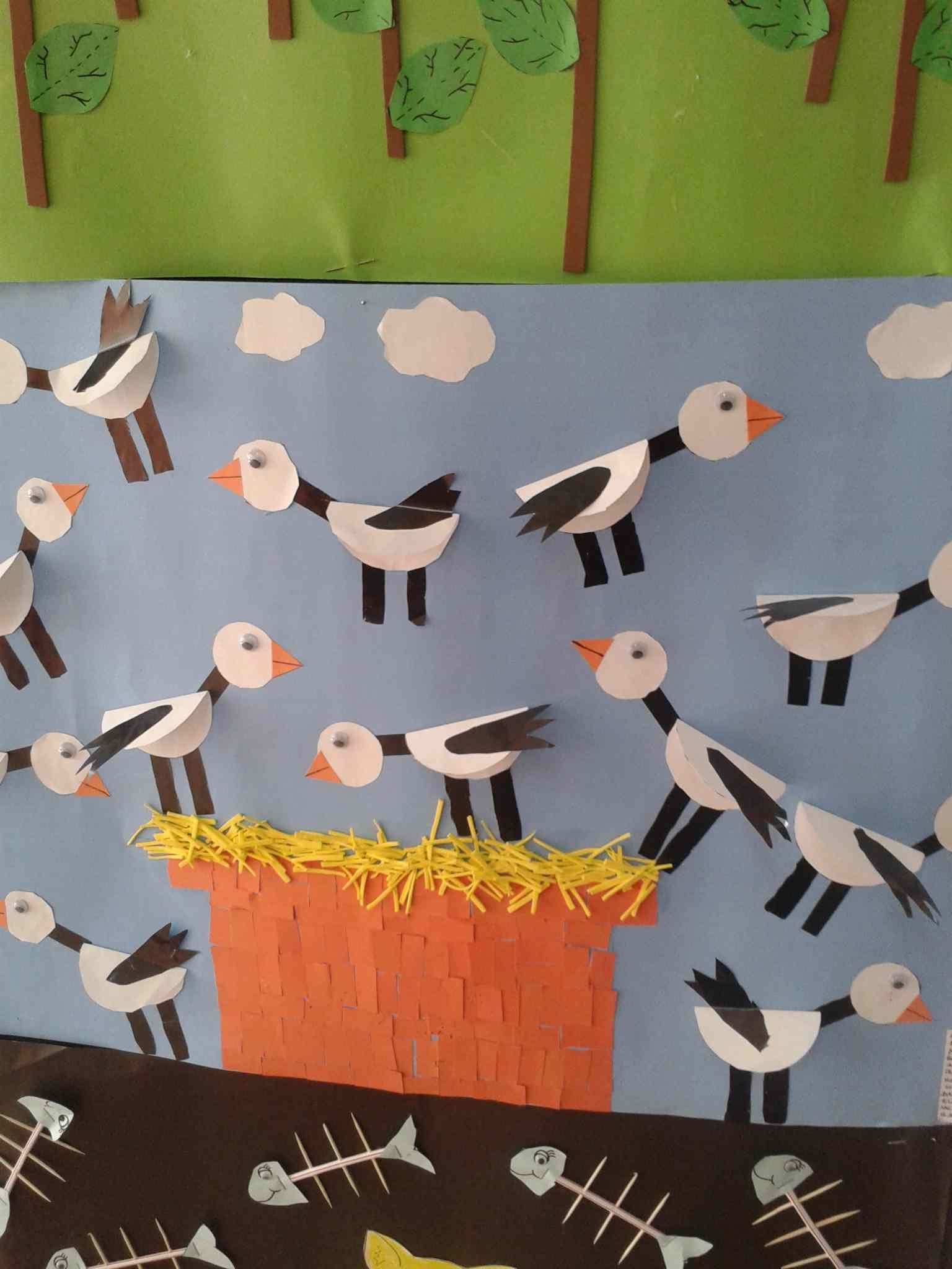 Birds Bulletin Board Idea For Kids