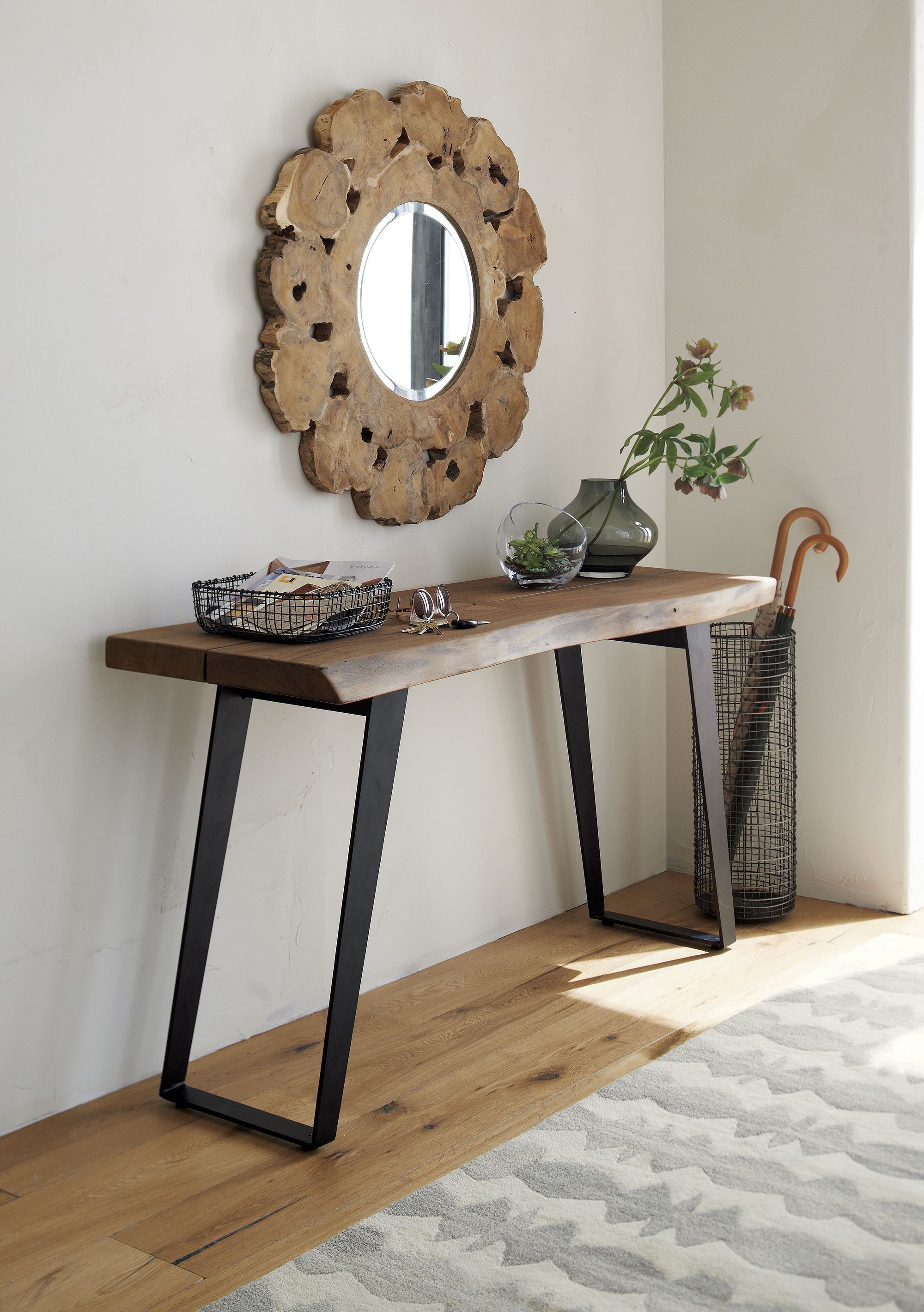 Yukon Natural Console Table Reviews Crate And Barrel Gray Console Table Console Table Live Edge Console Table