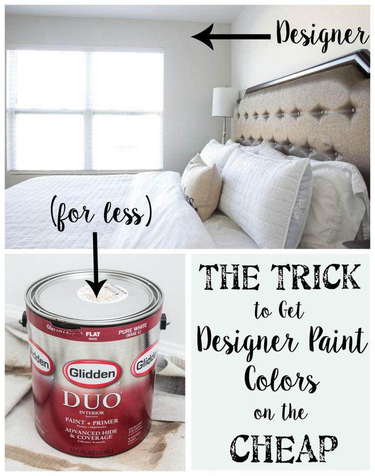 The Trick to Get Designer Paint Colors on the Cheap Home