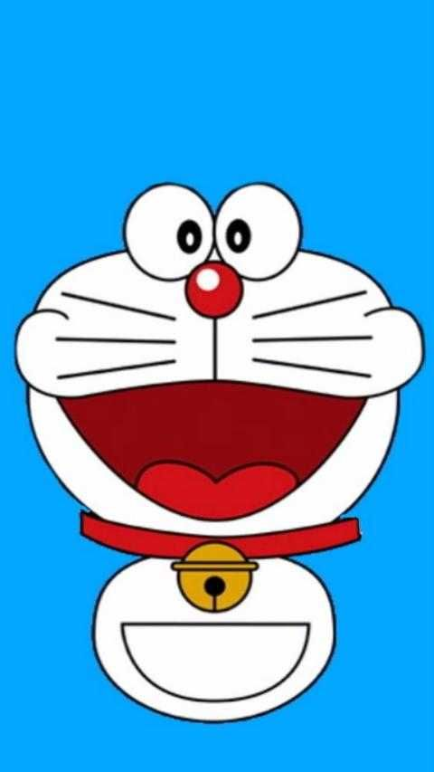 Background Biru Putih Doraemon