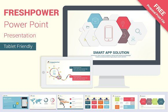 freshpower power point presentation by orcolor on creativemarket