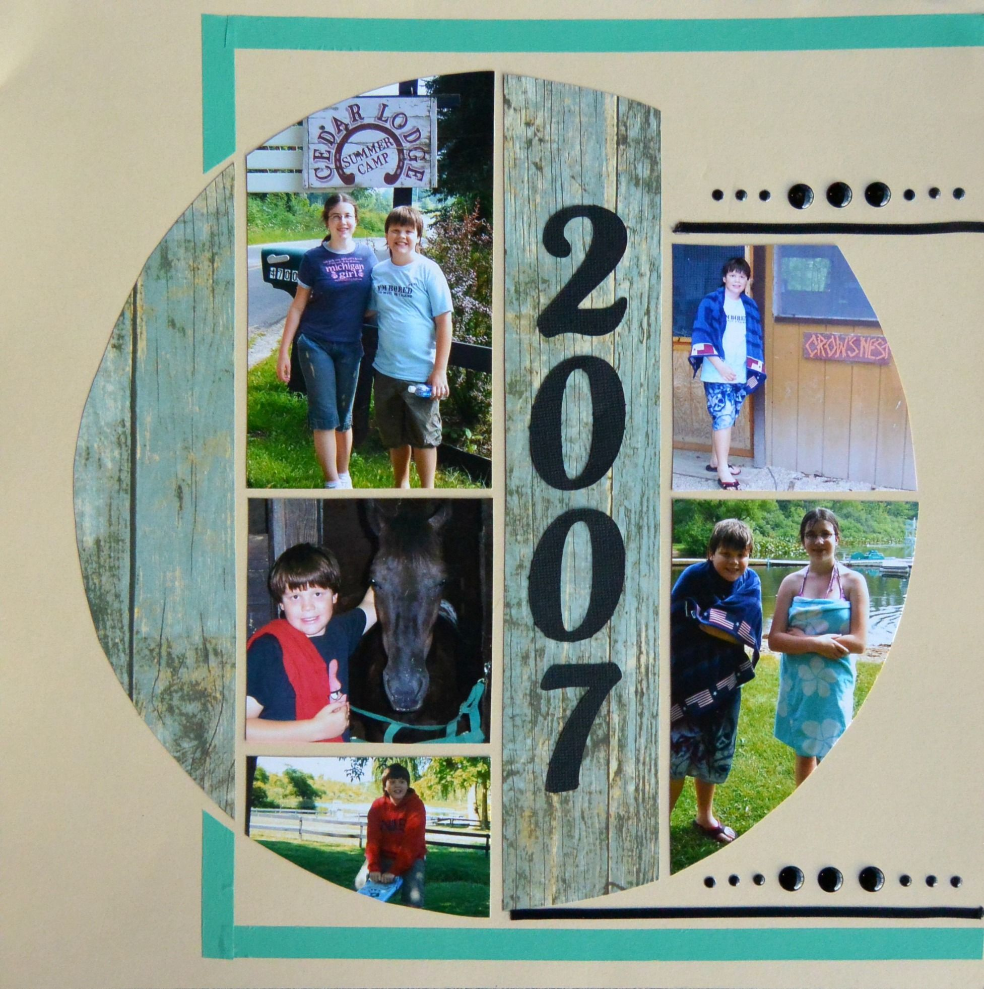 Layout created by Karen Morley using Lea France Universal stencil