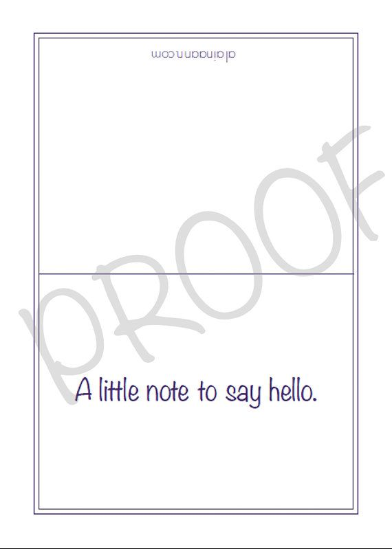 Say Hello Note Card Set {Printable} – 3.5 x 5 inches folded | Alaina ...