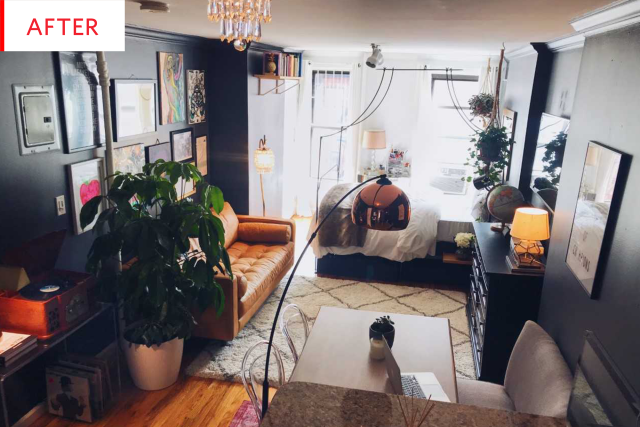 Before And After 280 Square Feet Never Looked So Good Studio Apartment Decorating Studio Apartment Layout Small Room Design