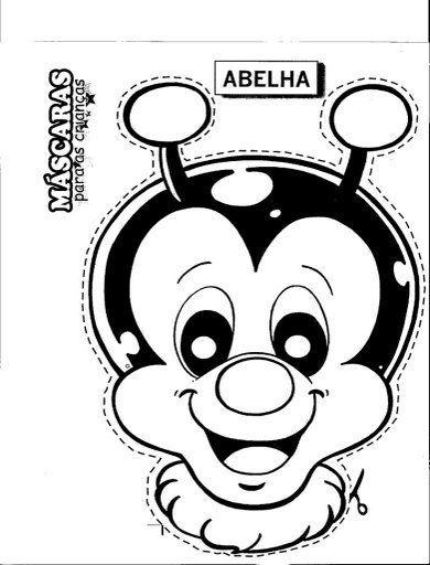 Abelha Mascara Con Imagenes Animales Para Imprimir Mascara De