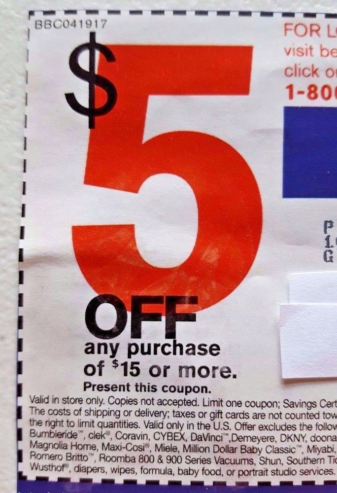 BED Bath BEYOND Coupon SAVE $5 Off $15 DEAL Savings OFFER Promo CODE ...