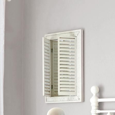 Room Chalk Cottage Collection Shutter Mirror