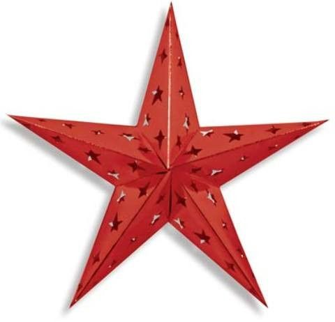 dimensional foil star (red) - style #681 Case of 12