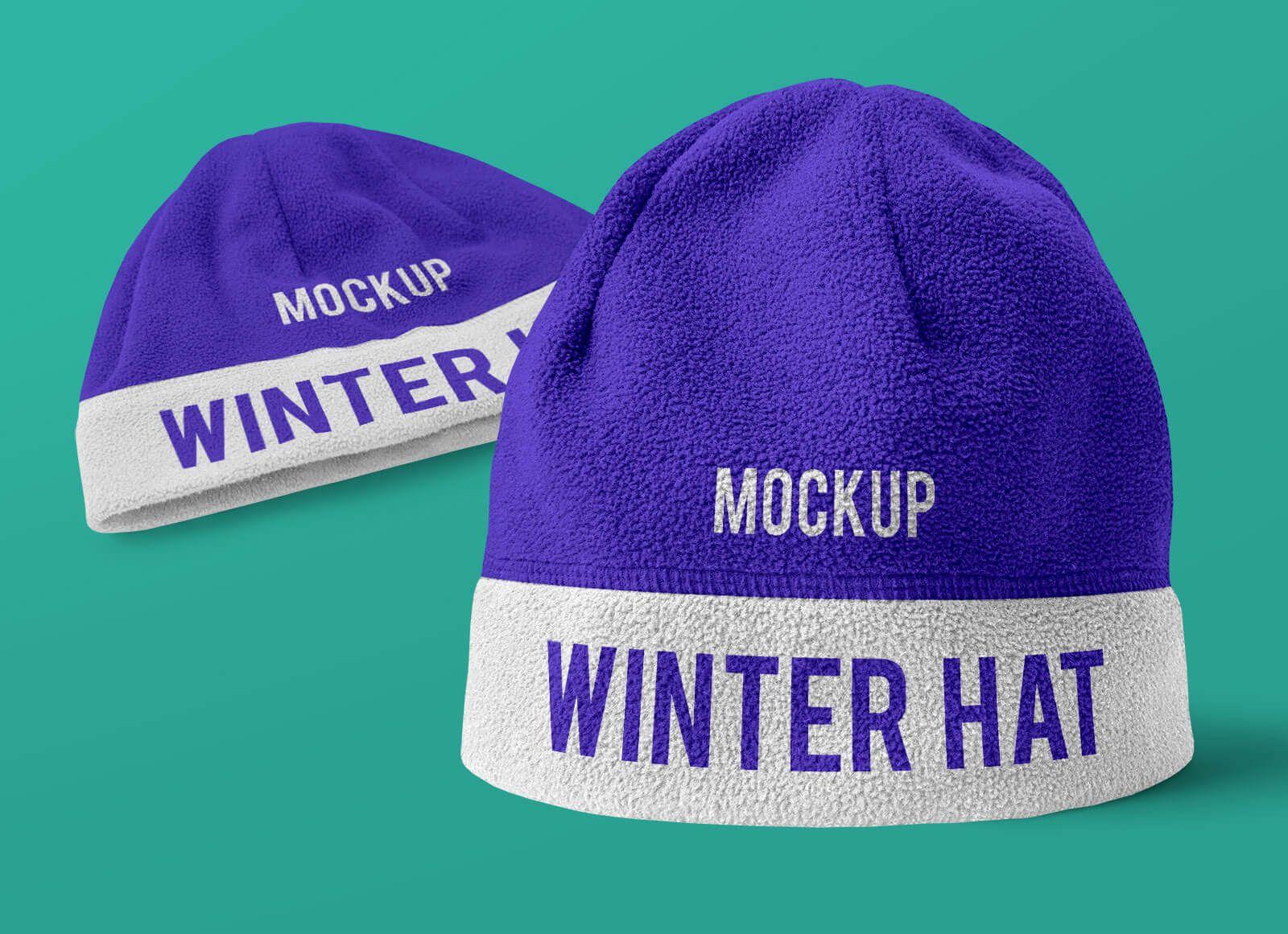 Download Free Winter Beanie Hat Mockup Psd Set In 2021 Winter Hats Beanie Winter Beanie Beanie Hats