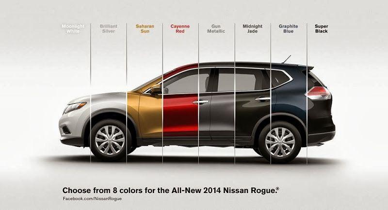 2014 Nissan Rogue Colors 2014 Rogue Exterior Colors