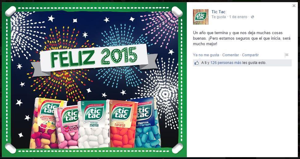 Post llegada año nuevo para Tic Tac Argentina Idea y texto: Jezabel Denis Diseño: Jonathan Hemann