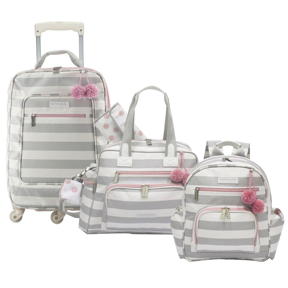 f3df8ef1a Kit com 3 Bolsas - Rodinha + Everyday + Noah - Candy Colors Rosa -  Masterbag - Novo Bebe Mobile